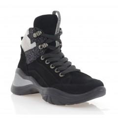 Кросівки жіночі чорні, замш (3302 чн. Зш (байка)) Roma style