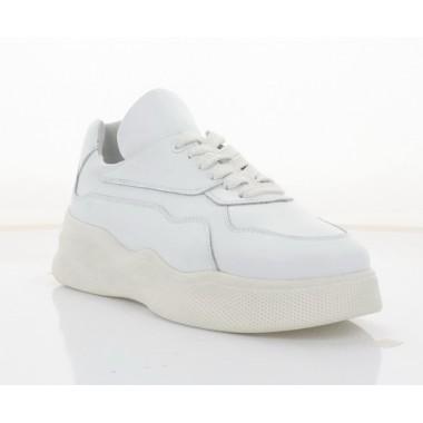 Кросівки жіночі білі,  шкіра (3308 біл. Шк) Roma style