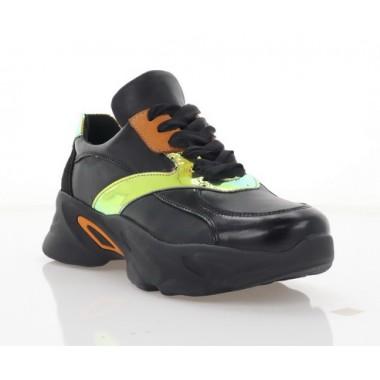 Кросівки жіночі чорні,  шкіра (3311 чн. Шк) Roma style