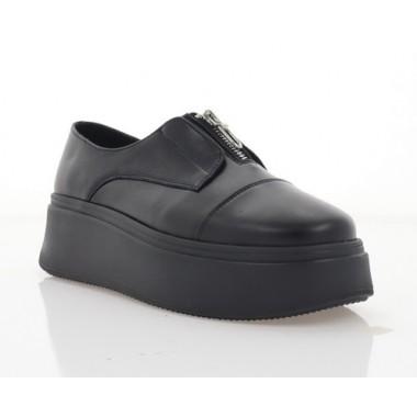 Туфли женские черные, кожа (3319 чн. Шк) Roma style