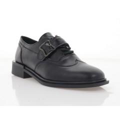 Туфли женские черные, кожа (3320 чн. Шк) Roma style