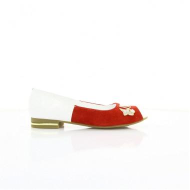 Купити Балетки жіночі білі червоні 98fceca88f400