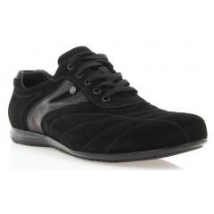 Кроссовки мужские черные, замш (365 чн. Зш) Roma style