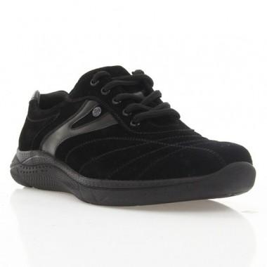 Кросівки чоловічі чорні, замш (365 PU чн. Зш) Roma style