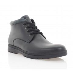 Ботинки мужские черные, кожа (396-20 чн. Шк (шерсть)) Roma style