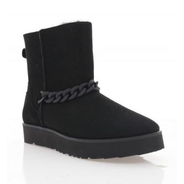Ботинки женские черные, велюр (4001 чн. Вл (н/х)) Roma style