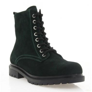 Ботинки женские зеленые, замша (4004 зел. Зш (шерсть)) Roma style