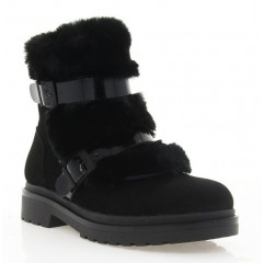 Ботинки женские черные, замша (4007 чн. Зш (шерсть)) Roma style