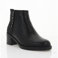 Ботинки женские черные, кожа (4010 чн. Шк+Зш (шерсть)) Roma style