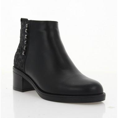 Купити Черевики жіночі чорні, шкіра (4010 чн. Шк+Зш (шерсть)) Roma style за найкращими цінами