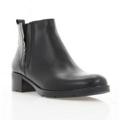 Ботинки женские черные, кожа/лакированная кожа (4011 чн. Шк+Лк (байка)) Roma style