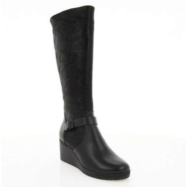 Чоботи жіночі чорні, шкіра/замш (4015 чн. Шк+Зш (шерсть)) Roma style