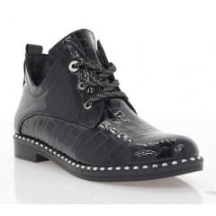 Ботинки женские черные, лакированная кожа (4016. Лк) Roma style