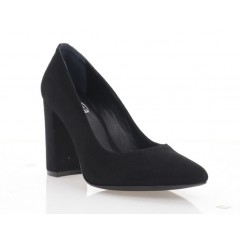 Туфли женские черные, велюр (2917 чн. Вл) Roma style