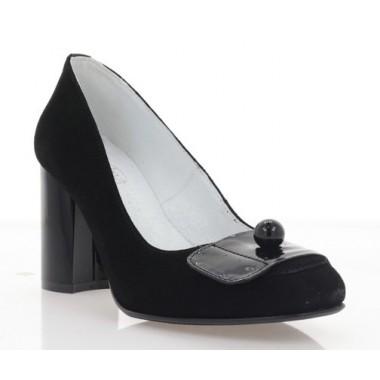 Купить Туфли женские черные, велюр (4020 чн. Вл) Roma style по лучшим ценам