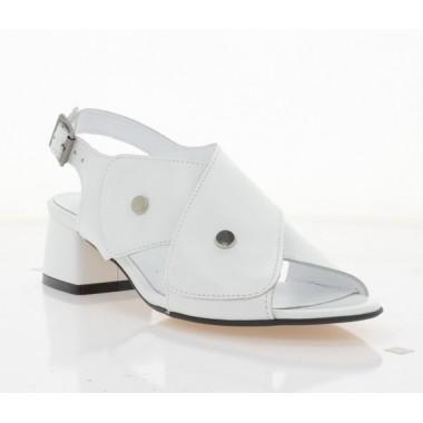 Купити Босоніжки жіночі білі, шкіра (4023 біл. Шк) Roma style за найкращими цінами