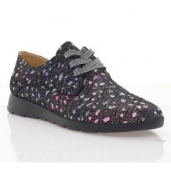 Туфлі жіночі чорні/рожеві, шкіра  (4033 чн_рож. Шк) Roma style