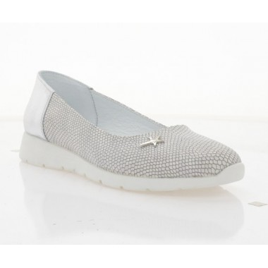 Купити Балетки жіночі срібні, шкіра  (4036 срібна. Шк) Roma style за найкращими цінами