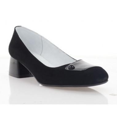 Купити Туфлі жіночі чорні, велюр/лакована шкіра  (4038 чн. Лк+Вл) Roma style за найкращими цінами