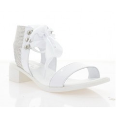 Босоножки женские белые, кожа (4041 біл. Лк+Змія) Roma style