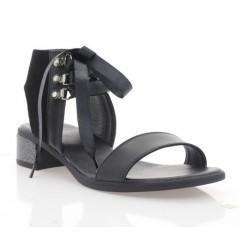 Босоніжки жіночі чорні, шкіра/велюр (4041 чн. Шк+Вл) Roma style