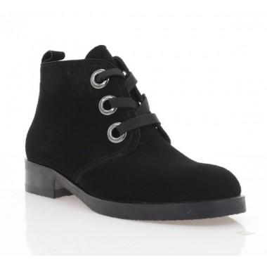 Купить Ботинки женские черные, велюр (4050 чн. Вл (байка)) Roma style по лучшим ценам