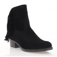 Ботинки женские черные, замша (4054 чн. Зш (байка)) Roma style