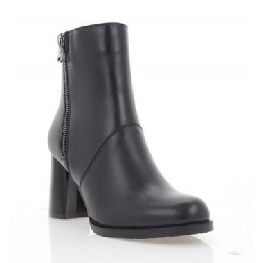 Ботинки женские черные, кожа (4056 чн. Шк (байка)) Roma style