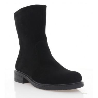 Ботинки женские черные, замша (4063 чн. Зш (шерсть)) Roma style
