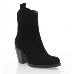 Ботинки женские черные, замша (4065 чн. Зш (байка)) Roma style