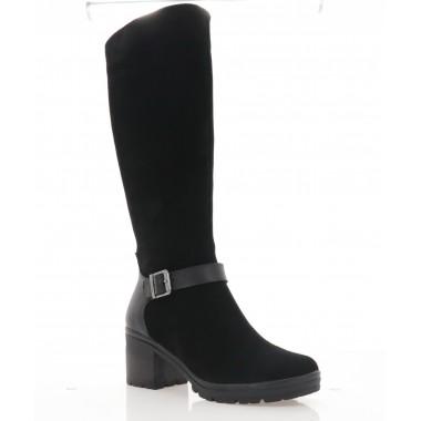 Чоботи жіночі чорні, замш/шкіра (4070 чн. Шк+Зш (шер)) Roma style