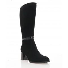 Чоботи жіночі чорні, велюр (4071 чн. Вл (шерсть)) Roma style