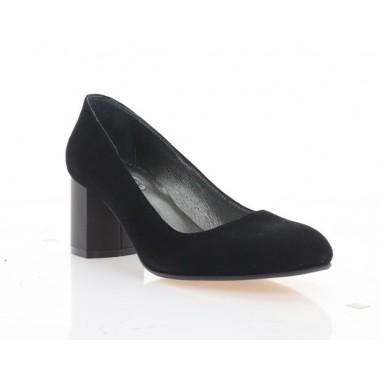 Туфли женские черные, велюр (4084 чн. Вл) Roma style