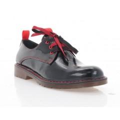 Туфлі жіночі чорні/червоні, лакована шкіра (4087 чн. Лк_черв. вст) Roma style