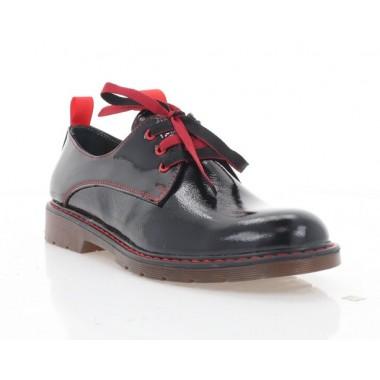 Туфли женские черные/красные, лакированная кожа (4087 чн. Лк_черв. вст) Roma style