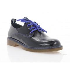 Туфлі жіночі чорні/сині, лакована шкіра (4087 чн. Лк_сн вст) Roma style