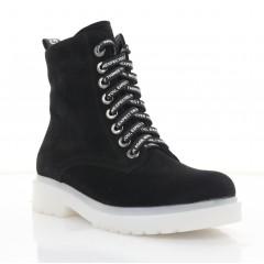 Ботинки женские черные, замша (4100 чн. Зш (шерсть)) Roma style