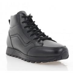 Ботинки мужские черные, кожа (5000-20 чн. Шк (шерсть)) Roma style