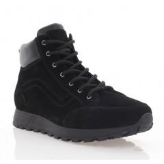 Ботинки мужские черные, замша (5000 чн.Зш (шерсть)) Roma style