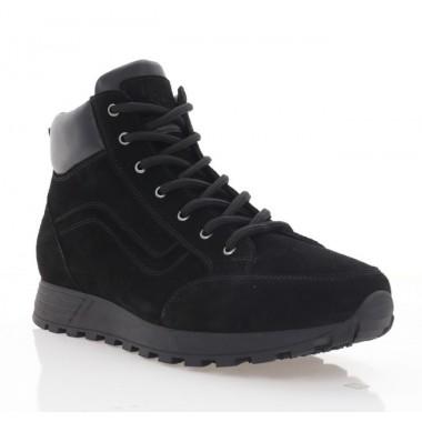 Купить Ботинки мужские черные, замша (5000 чн.Зш (шерсть)) Roma style по лучшим ценам