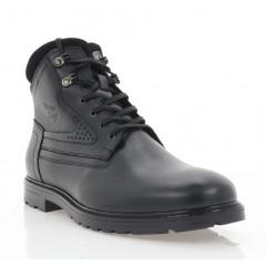 Ботинки мужские черные, кожа (5001 чн. Шк (шерсть)) Roma style