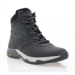 Ботинки мужские черные, кожа (5002 чн. Шк (шерсть)) Roma style