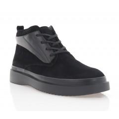 Ботинки мужские черные, замша (5003-20 чн.Зш (байка)) Roma style