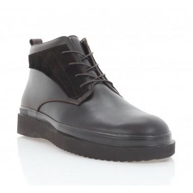 Ботинки мужские коричневые, кожа (5003-20 кор. Шк (шерсть)) Roma style