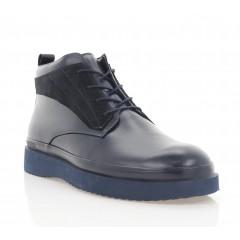 Ботинки мужские синие, кожа/замша (5003-20 сн. Шк (шерсть)) Roma style