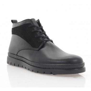 Купить Ботинки мужские черные, кожа/нубук (5003 чн. Шк (шерсть)) Roma style по лучшим ценам
