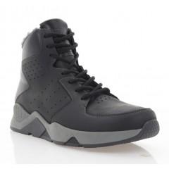 Ботинки мужские черные/серые, кожа (5005 чн. Шк_сір (шер)) Roma style