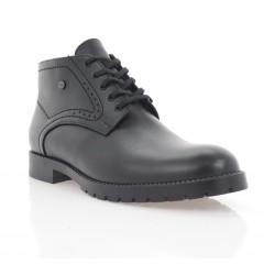 Ботинки мужские черные, кожа (5007-20 чн. Шк (шерсть)) Roma style