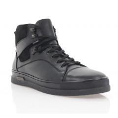Ботинки мужские черные, кожа (5008-20 чн. Шк (шерсть)) Roma style
