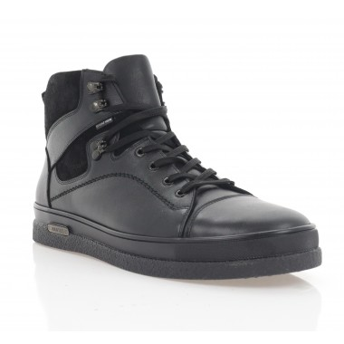Купить Ботинки мужские черные, кожа (5008-20 чн. Шк (шерсть)) Roma style по лучшим ценам